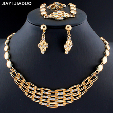 African dubai gold Color jewelry set simple atmosphere of female costume jewelry collection wedding dropshipping