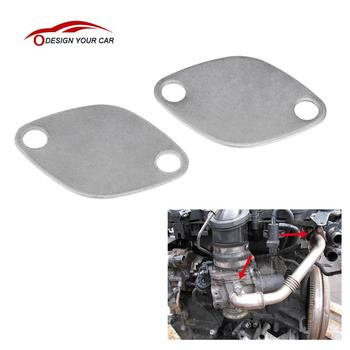 KKmoon Pair of EGR Valve Blanking Block Plates Kit for RENAULT ESPACE LAGUNA MASTER TRAFIC VAUXHALL MOVANO 2.2 2.5 dCi image