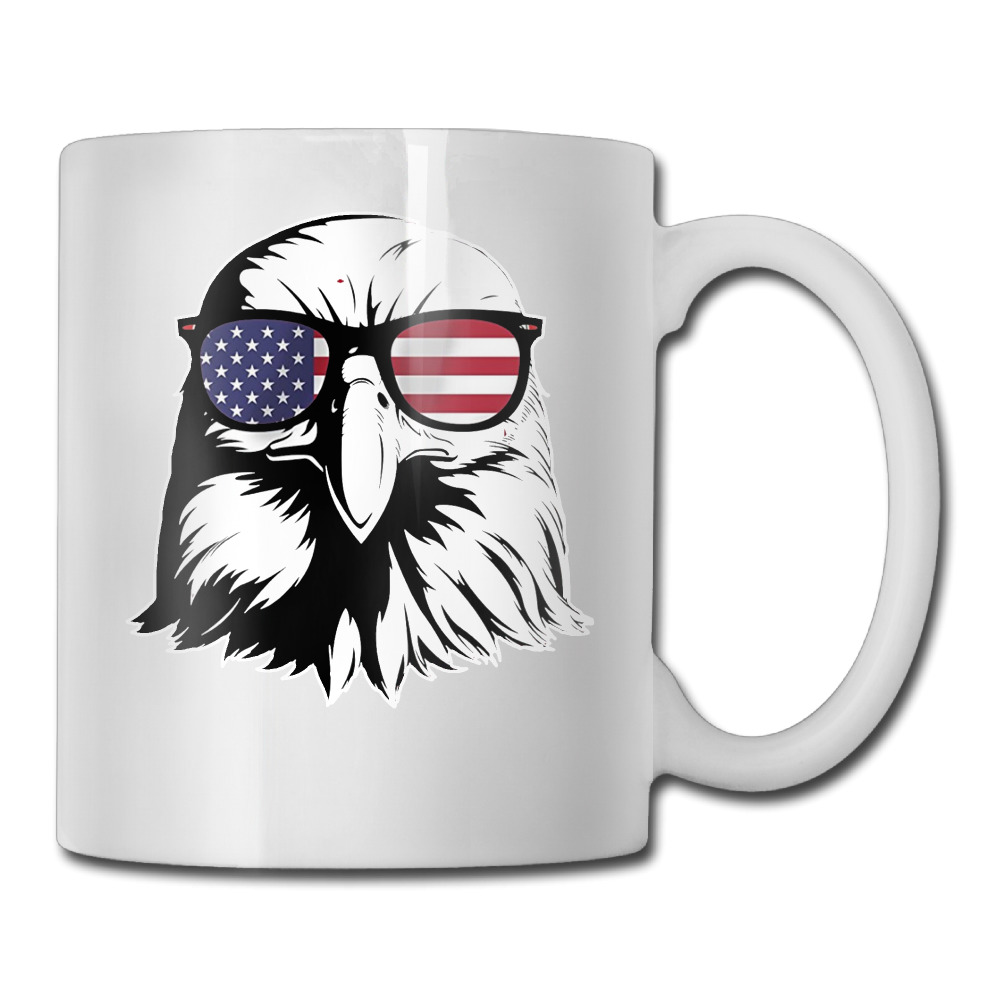 Bald Eagle Merica America Graphic coffee mug gift women tazas ceramic tumbler caneca tea Cups