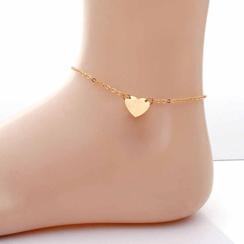 Fashion Heart Women Anklets Barefoot Crochet Sandals Foot Jewelry Bracelets Anklets