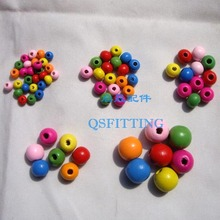 supply DIY fashion jewelry beads,jewelry accessory,cartoon wooden beads,round shape,mix color