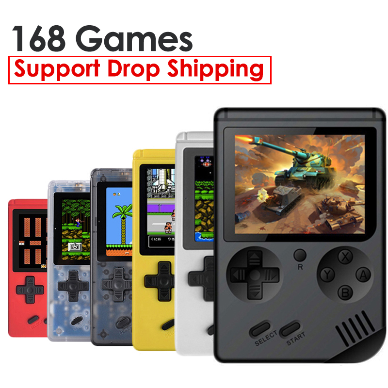 ALLOYSEED RS-6A Retro Mini Handheld Game Player 8 Bit Portable Pocket Video Game Console Built-in 168 Classic Games Gifts Kids