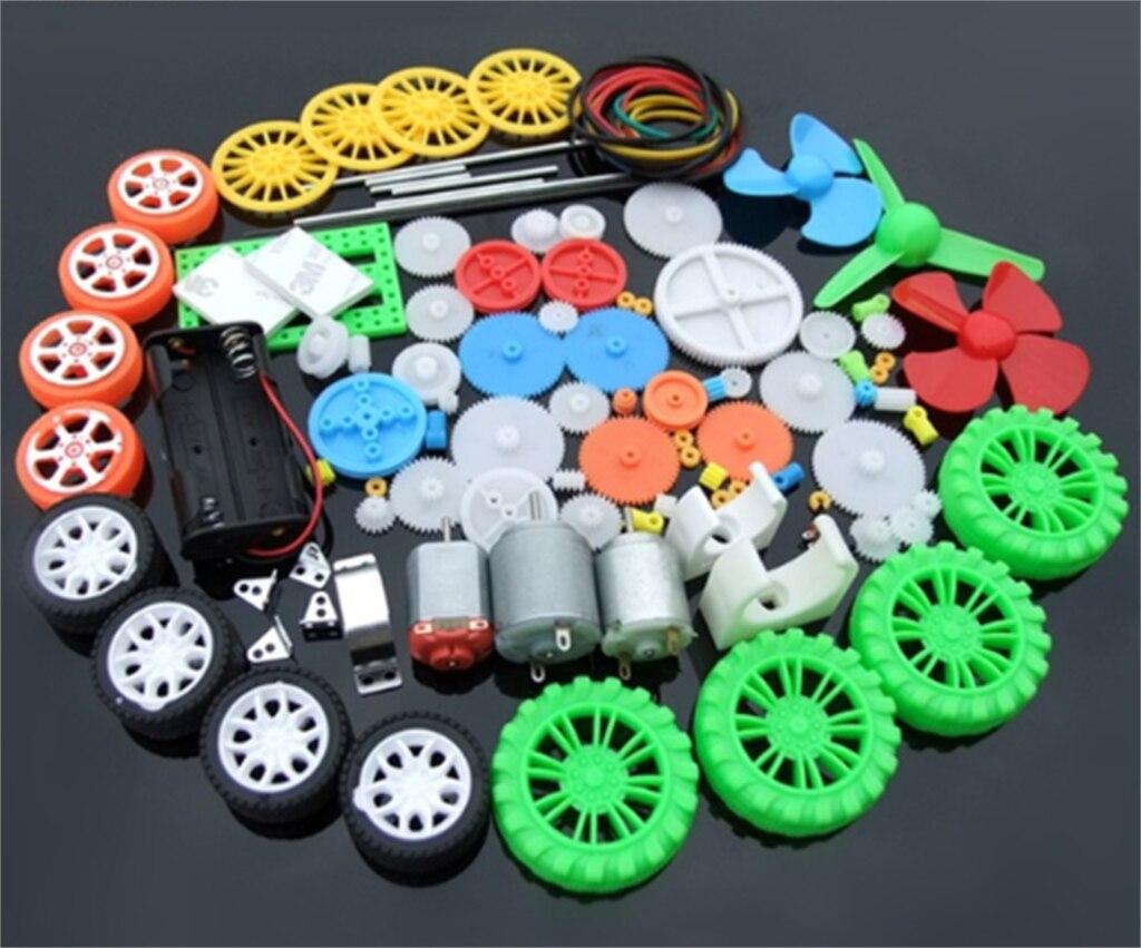 Neue 112 stücke Kunststoff Getriebe Box Elektronik DIY Spielzeug Auto Boot RC Flugzeug Roboter Montage Wissenschaftliche Kit Reparatur Schule Kind präsentieren