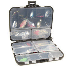 New 37 Pcs/Set Metal Spoon Fishing Lure Kits Spinning Lures with Box Fishing Tackle High Quality Artificial Fishing Lure