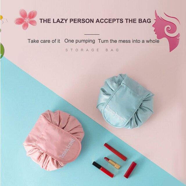 6 Colors Portable Makeup Bag Travel Drawstring Bulk Storage Magic Bags Maquillage Artist Wash Organizer