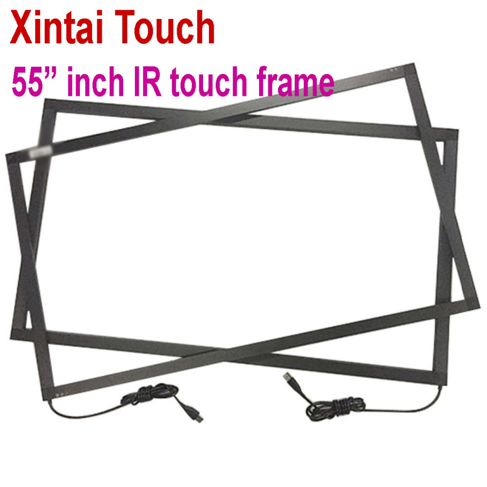 Real 10 points 55 IR Touch Screen Overlay Panel 16 9 format with fast free shipping