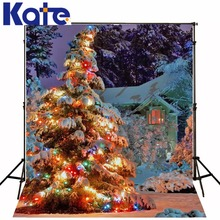 christmas hintergrund Christmas tree snow 5x7ft(1.5×2.2m) photo studio background backdrop ZJ