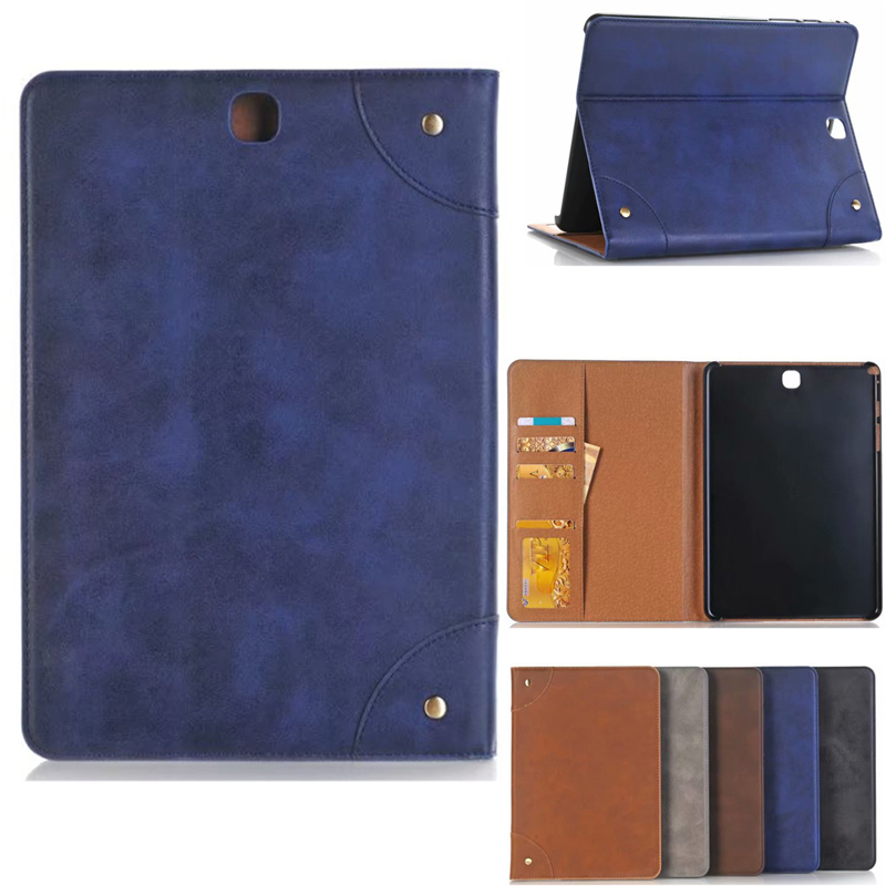 T350 T355 5 Colors Vintage PU Leather Smart Case For Samsung Galaxy Tab A 8.0 SM-T350 SM-T355 SM-P350 P355 8'' Tablet Cover