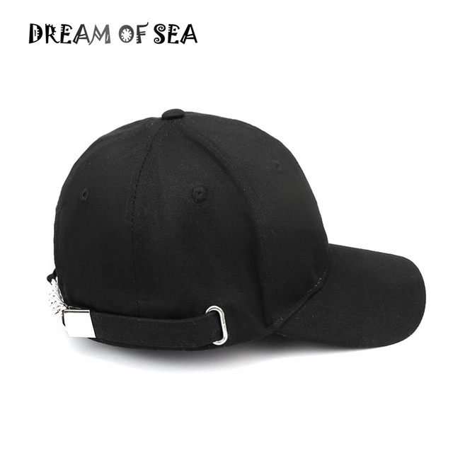 Solid Color Cotton baseball cap For Men Women Adjustable Metal Buckle  Snapback Hat Fashion Casual Hip Hop hats Bones JX99 b405be7629d