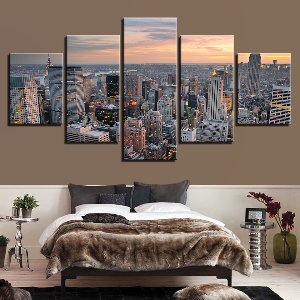Canvas Painting Wall Art Framework Living Room Home Decor 5 Pieces