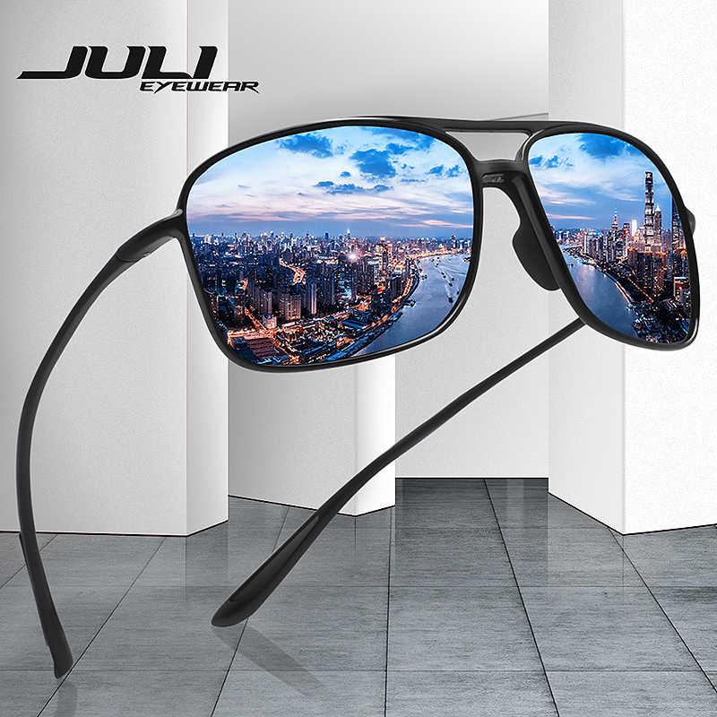 64add4b28f0c8 JULI Polarized Pilot Sports Sunglasses Men Women Tr90 Unbreakable Frame for  Running Fishing Baseball Driving MJ8006