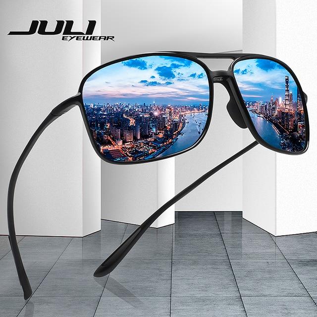 2bdf83f732d JULI Polarized Pilot Sports Sunglasses Men Women Tr90 Unbreakable Frame for  Running Fishing Baseball Driving MJ8006