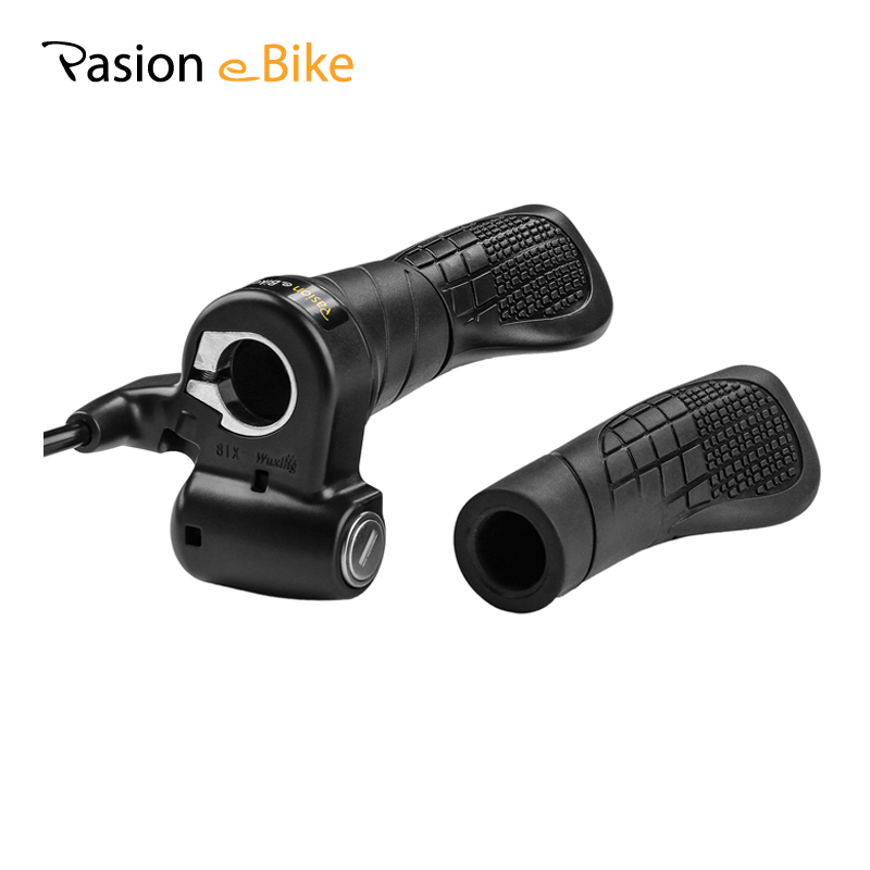 PASION E BIKE Electric Bicycle Throttle 72V Speed Throttle 24V 36V 48V 60V Electric Bike Parts Ebike Twist Throttle For Ebike цена
