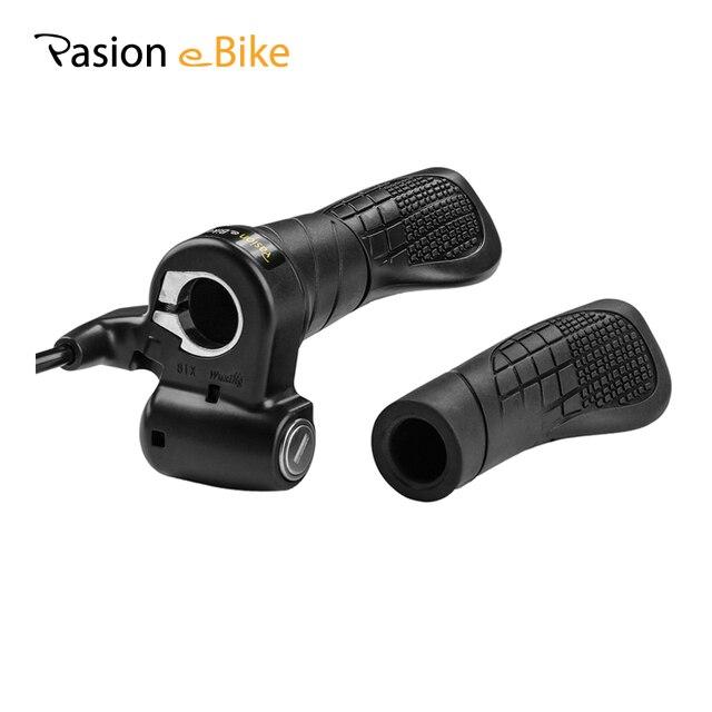 PASION E велосипед электрический Дроссельный регулятор для велосипеда 72 В Скорость дроссельной заслонки 24 В 36 В 48 В 60 В Запчасти для электромотоцикла Ebike Твист дроссельной заслонки для Ebike