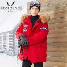 BOSIDNEG Big Brand Men deep winter thick down Jacket Regular goose down parka thick Coat big natural fur collar -30 B70142031