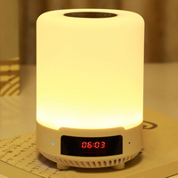 Multi functional Bluetooth Speaker USB Charging Colorful Bedside Night Light with Alarm Clock for Bedroom JDH99|LED Night Lights|   -