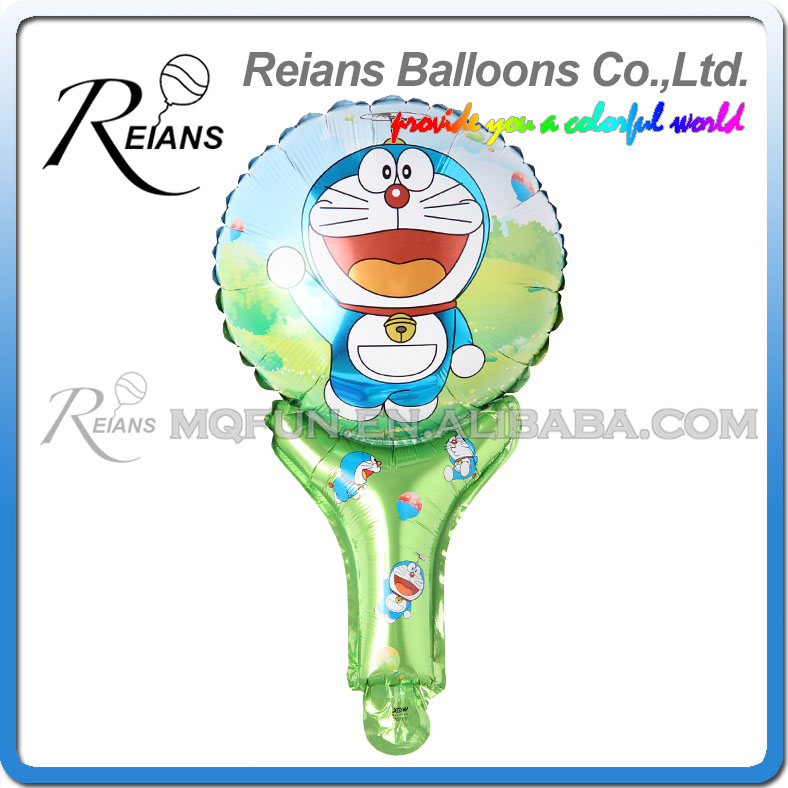 50pcs REIANS 51cm children kids cartoon Anime Doraemon handhold stick Party Happy birthday aluminum foil air balloon Event toy