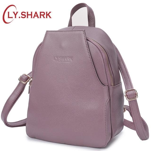 LY. SHARK กระเป๋าเป้สะพายหลังหนังแท้กระเป๋าเป้สะพายหลังมินิกระเป๋าเป้สะพายหลังขนาดเล็ก Anti Theft Back Pack สำหรับสาวกระเป๋าเป้สะพายหลังผู้หญิงไหล่กระเป๋า-ใน กระเป๋าเป้ จาก สัมภาระและกระเป๋า บน AliExpress - 11.11_สิบเอ็ด สิบเอ็ดวันคนโสด 1