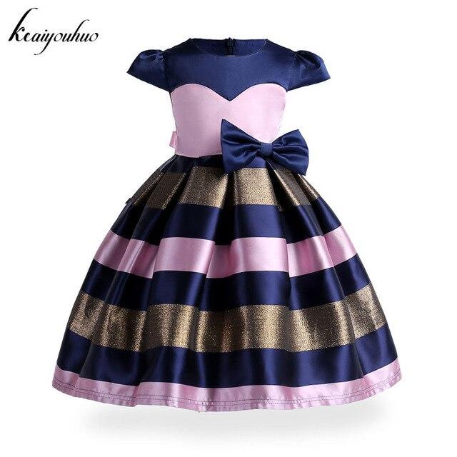 d19390951b Keaiyouhuo Crianças Bebê Meninas Listrado Vestido de Princesa Vestido de Festa  Infantil Para Meninas De Casamento