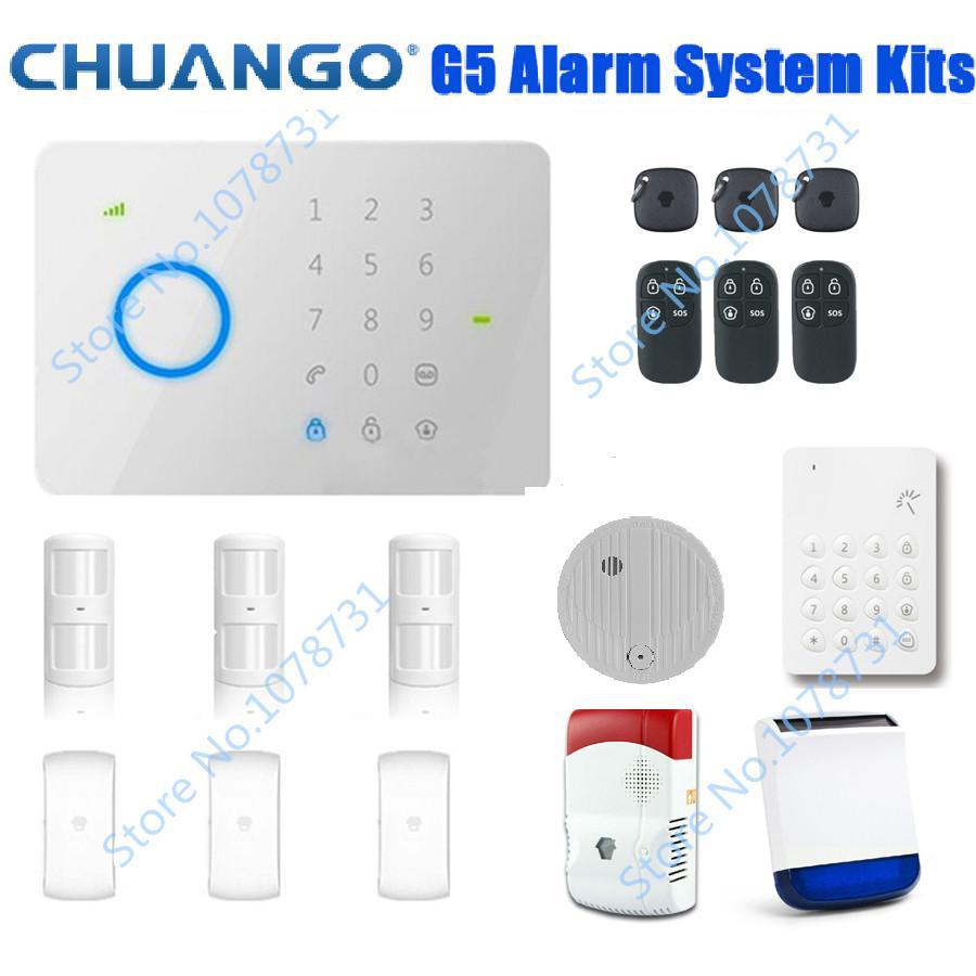 Burglar Alarm Control Keypad Dhl Free Shipping Chuango G5 Touch Gsm Sms Wireless Home Security System Accessories On Alibaba Group
