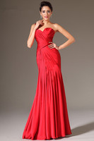 Red Evening Dresses 2019 Mermaid One shoulder Chiffon Plus Size Long Formal Party Evening Gown Prom Dresses Robe De Soiree