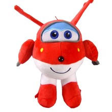20-30cm NEW 5 kinds of  Stuffed Plush doll Super wings Airplane Robot collection gift kid Toys Transformation for children
