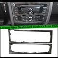 2pcs/set 09-15 A4 A5 Q5 Carbon Fiber Car CD Control Panel trim,Auto interior dashboard dash kit cover for Audi
