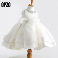 Baby Girls Baptism White Dress For Party And Wedding Princess Christening Ball Gown Meisjes Special Occasion
