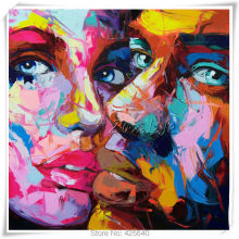 Palette knife painting portrait Francoise Nielly Hand painted Palette knife Face Oil painting Impasto figure on canvas Pop art 5