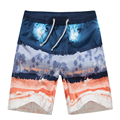 Fashion Loose Print Men Swimwear Board Shorts Quick Dry Comfortable Wearing Boardshorts Hombre