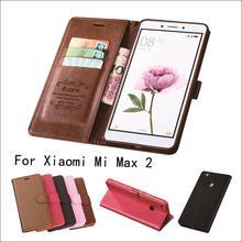 For Xiaomi Mi Max 2 Case azns Luxury Flip PU Leather Case For Xiaomi Mi Max2 Cover Magnetic Fundas Holder Stand Phone Case