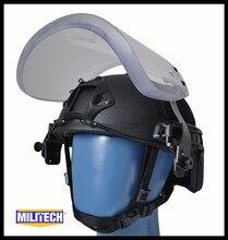 MILITECH NIJ IIIA 3A Kugelsichere Visier für PASGT ACH SCHNELLE Picatinny Railed Helm Ballistischen Visier Für Taktische Schiene Helme