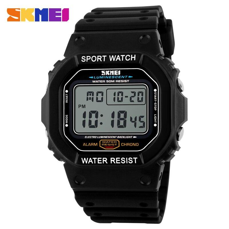 Skmei marca de relógios Militares LED Digital de Mergulho Relógio dos homens 50 M Moda Relógio de Pulso dos homens Do Esporte Ao Ar Livre