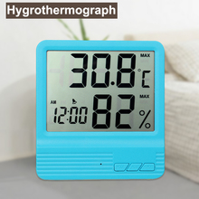 Mini Thermometer Hygrometer Digital Clock Temperature Logger Humidity Meter Indoor Outdoor Digital Termometre Higrometre