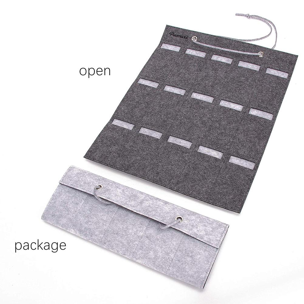 Image 3 - Portable Sunglasses Storage Bag Soft Cloth Hanging Bag Women's Men's Sunglasses Organizer Wall Decoration-in Storage Holders & Racks from Home & Garden