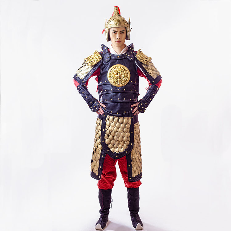 ancient chinese costume chinese general warrior armor halloween costumes vintage shogun clothing coat hat cloak inner wear in sets from novelty