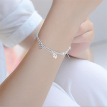 Everoyal Promotion Lady Silver 925 Bracelets For Women Jewelry Trendy Clover Anklets Accessories Female Girls Birthday