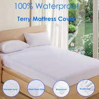 IROYAL 80X200 белые махровые простыни из полиэстера, коврик для кровати, водонепроницаемый матрас, защитный чехол для матраса, защита от пыли, кле...