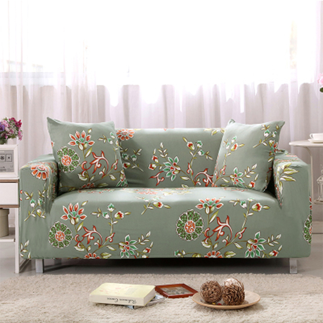 Beau Yazi Pastoral Floral Stretch Single Double Seat Sofa Cover For 1 2 3 4 Seater  Couch