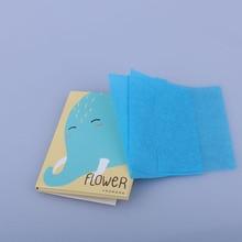 50 листов/упаковка, макияж для лица, очищающее масло, впитывающее промокание бумаги, инструменты для красоты, узор, случайный, Новое поступление