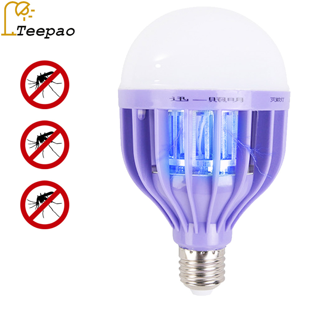 E27 12W Led Mosquito Killer Lamp Pest Control Light Bulb Eco Friendly  Electronic Mosquito Insect Killer Trap Night Lamp