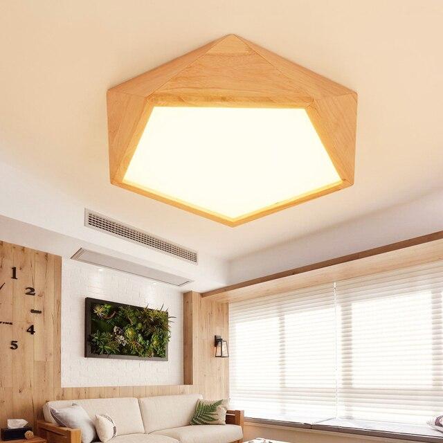 Kreative holz led decke licht Geometrische lampe moderne wohnzimmer ...