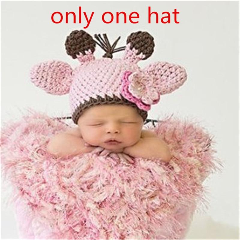 2018 Christmas Deer Baby Hat Crochet Infant Beanie Hat Photo Prop,Cute Baby Bonnet for Gift Handmade Newborn Photography Props