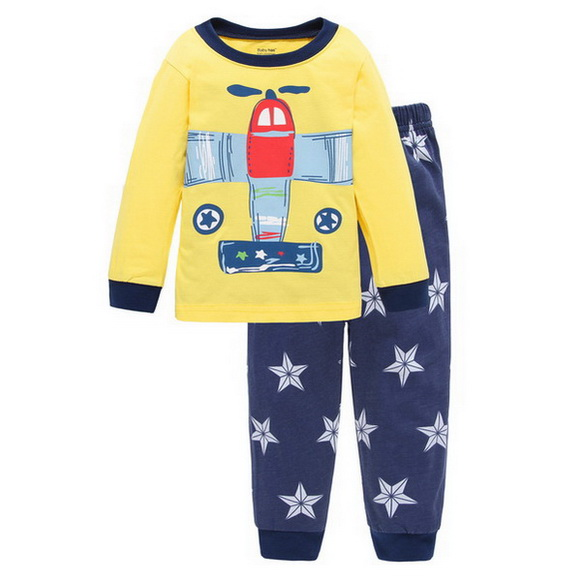2 Stücke Kinder Baby Pyjamas Set Kleinkind Kid Jungen Mädchen Cartoon Pijamas Langarm Pyjamas Set Tops + Lange Hosen Kinder Nachtwäsche