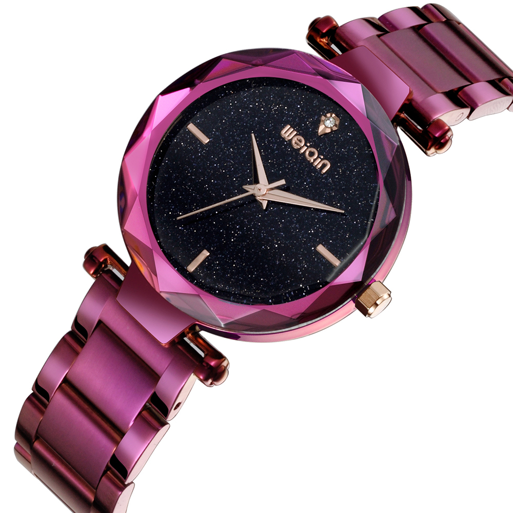 WEIQIN Women Watches Purple Steel Strap Quartz Clock Ladies Fashion Watch Feminino Bracelet Quartz Wrist Watch плед сruise welcom
