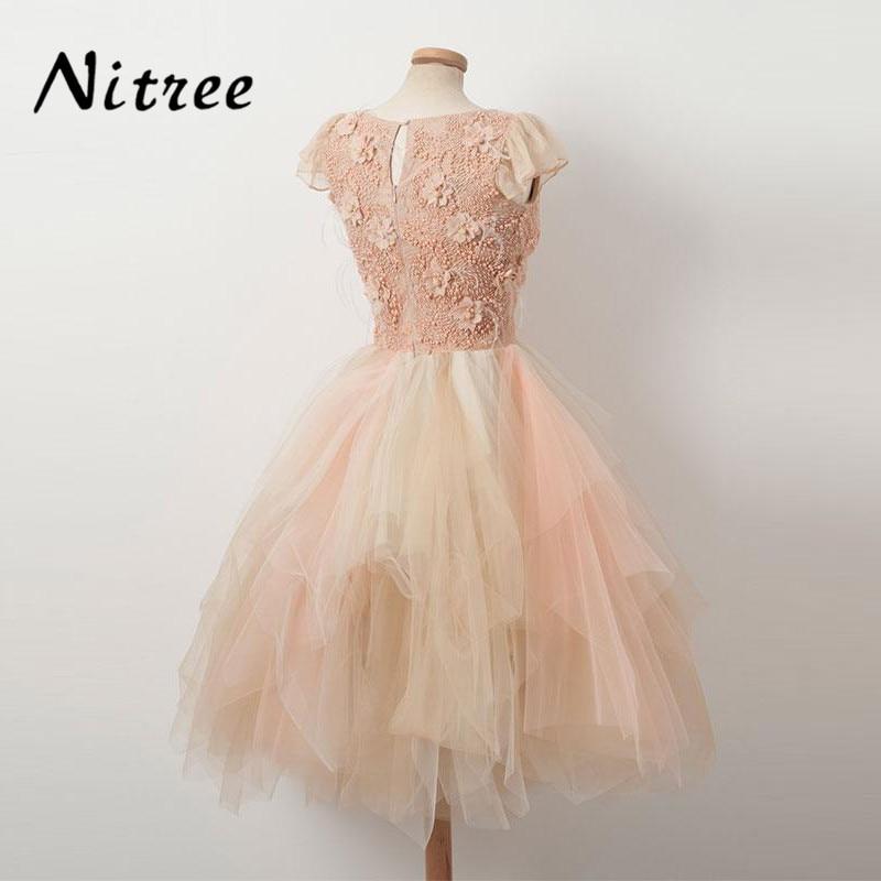 Fancy Multi Color Prom Dresses 2018 Robe de soiree Lace Formal Evening  Gowns Dresses For Weddings Turkish Dubai Kaftan Avondjurk-in Prom Dresses  from ... 064ee3e148fd