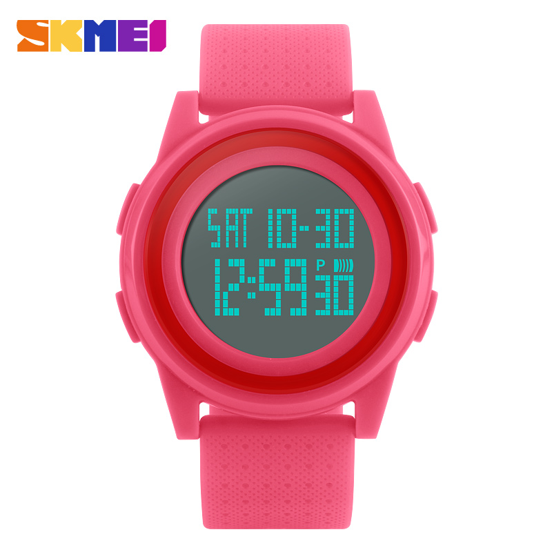 <font><b>SKMEI</b></font> Digital Ladies Watch Led Silicone Sports Women Watches Female Multifunction Wristwatches Reloj Mujer Digital <font><b>1206</b></font> image