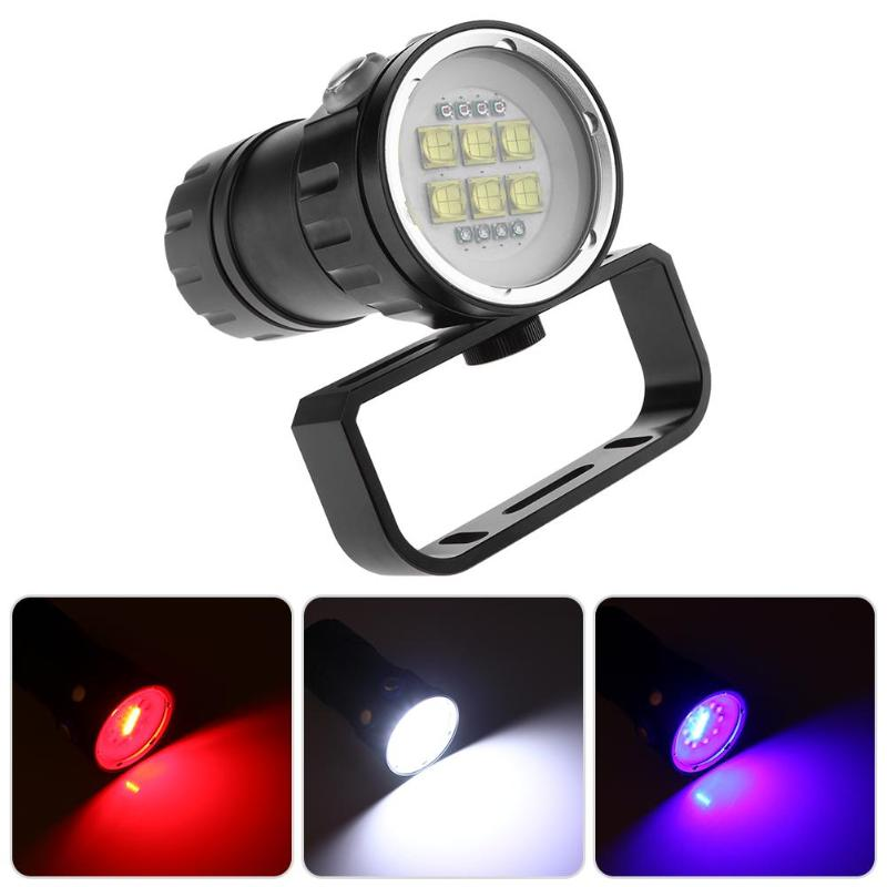 Lampe de poche de photographie vidéo de plongée sous-marine Portable 14LED