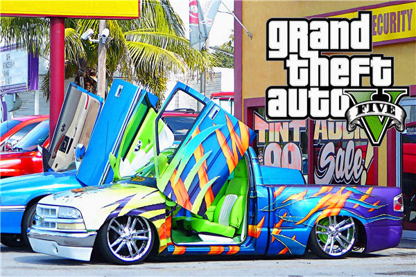 Aliexpress com buy custom canvas art grand theft auto poster gtav san andreas game wallpaper super car wall stickers mural bedroom decoration 750 from
