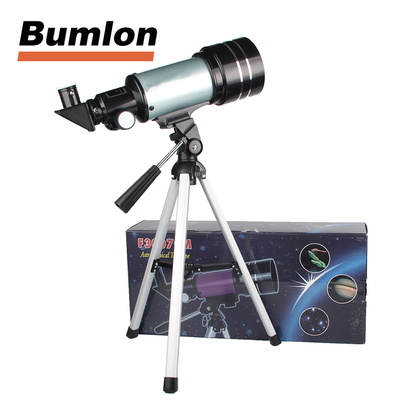 Astronomical Refractor Telescope F30070 15-150x 70mm Zoom High-powered Monocular Digital Eyepiece with Aluminum Tripods 38-0012 original boshile high power 15 75x25 mini zoom monocular pocket flexible focus zoom telescope for camping dy007